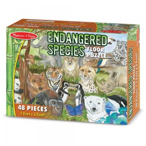 Melissa And Doug Endangered Species Jumbo Floor Puzzle 48pc Clearance Sale