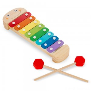 Melissa & Doug Caterpillar Xylophone Musical Toy With Wooden Mallets Clearance Sale