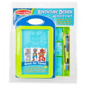 Melissa & Doug Adventure Design Activity Kit: 9 Double-Sided Plates, 4 Colored Pencils, Crayon Clearance Sale