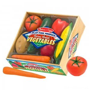 Melissa & Doug Playtime Produce Vegetables Play Food Set With Crate (7pc) Clearance Sale