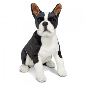 Melissa & Doug Giant Boston Terrier - Lifelike Stuffed Animal Dog Clearance Sale