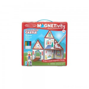 Melissa & Doug Magnetivity - Draw & Build Castle Clearance Sale