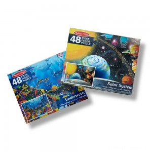 Melissa And Doug Solar System And Underwater Jumbo Floor Puzzle 48pc Clearance Sale