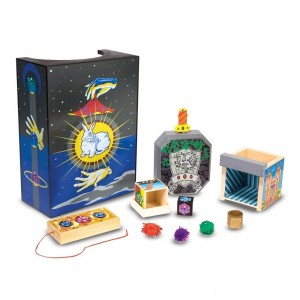 Melissa & Doug Discovery Magic Set With 4 Classic Tricks, Solid-Wood Construction Clearance Sale