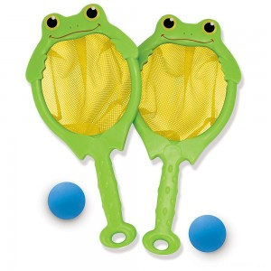 Melissa & Doug Sunny Patch Froggy Toss and Catch Net Game With 2 Balls Clearance Sale