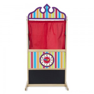 Melissa & Doug Deluxe Puppet Theater - Sturdy Wooden Construction Clearance Sale