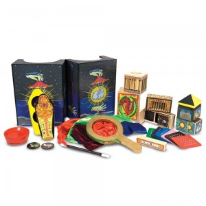 Melissa & Doug Deluxe Solid-Wood Magic Set With 10 Classic Tricks Clearance Sale