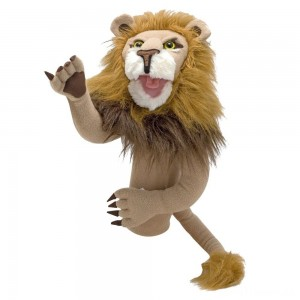 Melissa & Doug Rory the Lion Puppet With Detachable Wooden Rod for Animated Gestures Clearance Sale