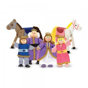 Melissa & Doug Royal Family Wooden Doll Set - 6pc Clearance Sale
