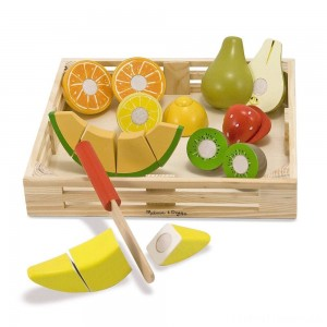 Melissa & Doug Cutting Fruit Set - Wooden Play Food Kitchen Accessory Clearance Sale