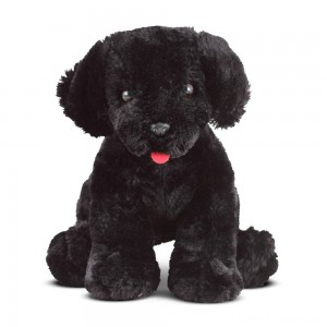 Melissa & Doug Benson Black Lab - Stuffed Animal Puppy Dog Clearance Sale