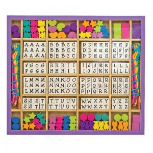 Melissa & Doug Deluxe Wooden Stringing Beads With 200+ Beads and 8 Laces for Jewelry-Making Clearance Sale