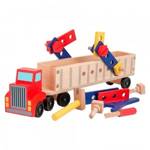 Melissa & Doug Big Rig Truck Wooden Building Set (22pc) Clearance Sale