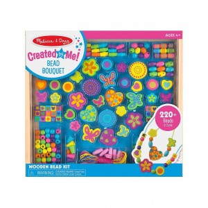Melissa & Doug Bead Bouquet Deluxe Wooden Bead Set With 220+ Beads for Jewelry-Making Clearance Sale